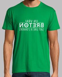 Un vrai Breton sait lire à l'envers - T-shirt homme