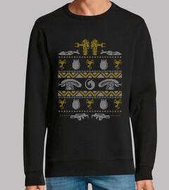 una búsqueda de insectos de navidad / alien / sweater