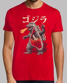 una camisa de anatomía kaijus para hombre