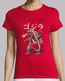 una camisa de anatomía kaijus para mujer