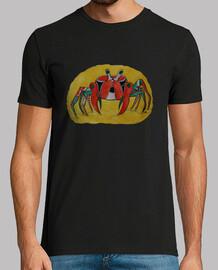 una camisa de hombre cangrejo colorido