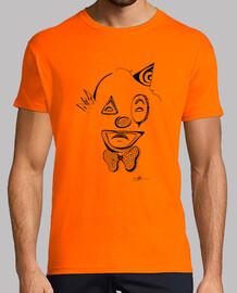 una camisa de hombre payaso triste