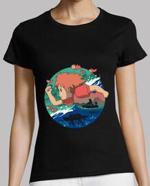 una camisa del amor del pez de colores para mujer