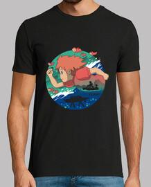 una camisa del amor del pez rojo para hombre