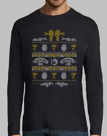 una caza de errores navidad feo suéter de manga larga