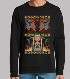 una navidad para gobernarlos a todos / lotr / fantasy / feo / suéter