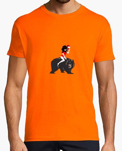Camiseta una niña y su oso de asesinato