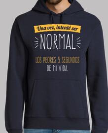 una volta ho cercato di essere normale