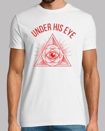 Under his eye