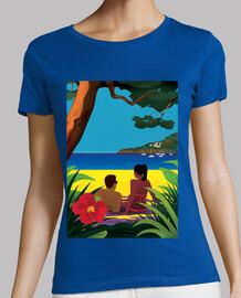 une plage ombragée