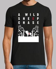 une poursuite de moutons sauvages