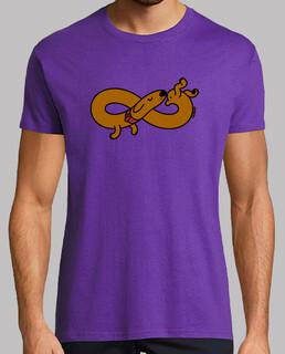 unendliche hund t-shirt