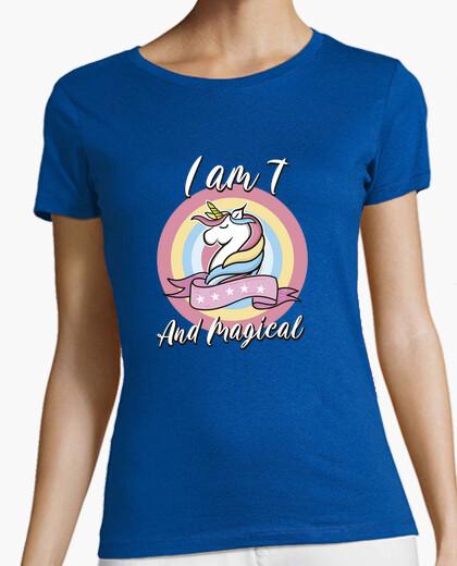 Camiseta Unicorn Birthday Gift Idea 7 años