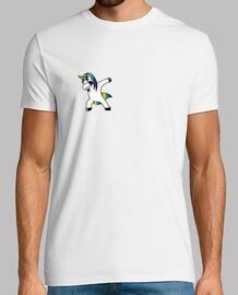 Unicorn Hombre, manga corta, blanco, calidad extra