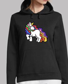 unicornio arco iris retro