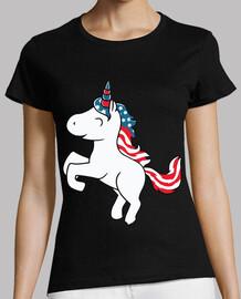Unicornio Bandera Americana USA