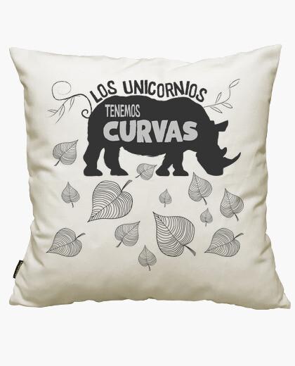 Funda cojín unicornio con curvas