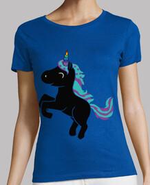 Unicornio Cuerno Arcoiris Estrellas Neg
