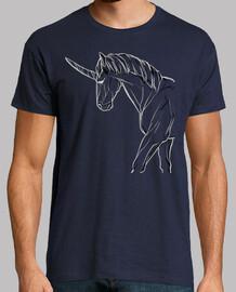 Unicornio de Perfil / Lineas / Caballo