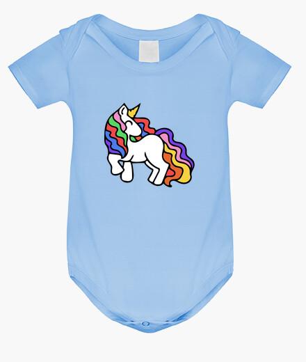 Ropa infantil unicornio retro del arco iris