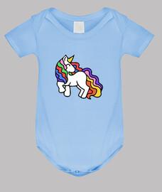 unicornio retro del arco iris
