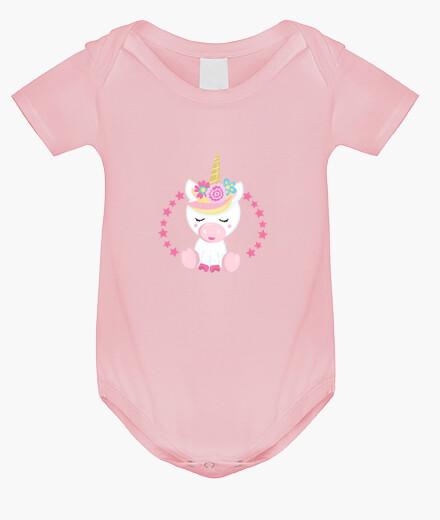 Ropa infantil Unicornio rosa body bebé niña