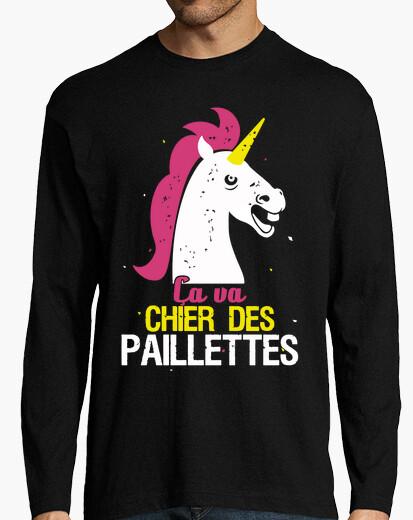 Camiseta unicornio va a cagar brillo