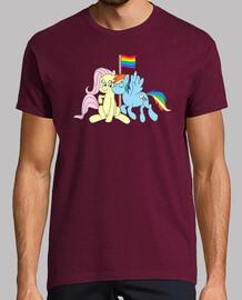 Unicornios LGBT Camiseta Manga Corta