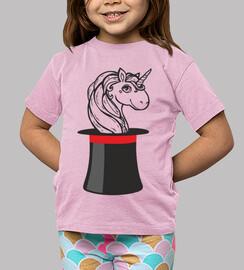unicorno_bambina, manches courtes, rose
