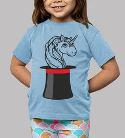 unicorno_bambino, manga corta, azul
