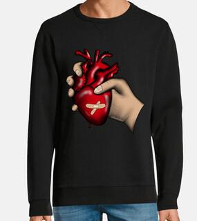 unisex heart in hand sweatshirt