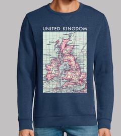 United Kingdom Vintage Map V02