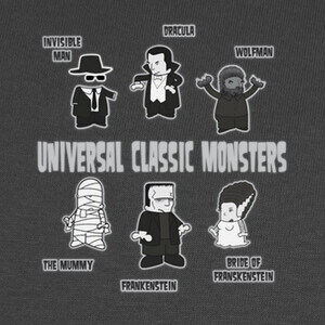 Camisetas UNIVERSAL CLASSIC MONSTERS