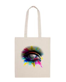 universe eye - 100% cotton fabric bag