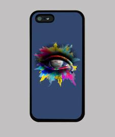 Universe Eye - Funda iPhone 5 / 5s, negra