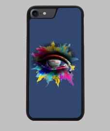 Universe Eye - Funda iPhone 7/8, negra