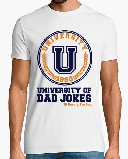 T-shirt università di papà scherzi