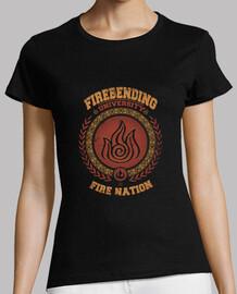 université firebending _  tee shirt  femme