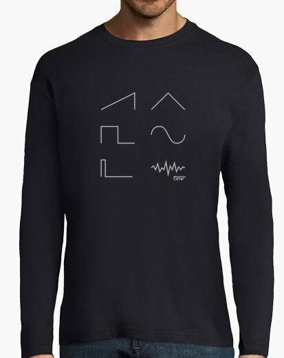 T-shirt Uomo, manica lunga, blu marino