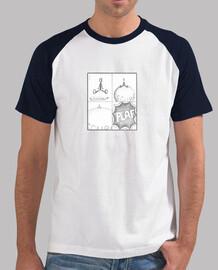 Uomo, stile baseball, bianca e blu reale