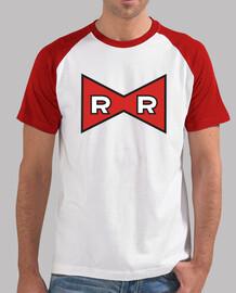 Uomo, stile baseball, bianca e rossa