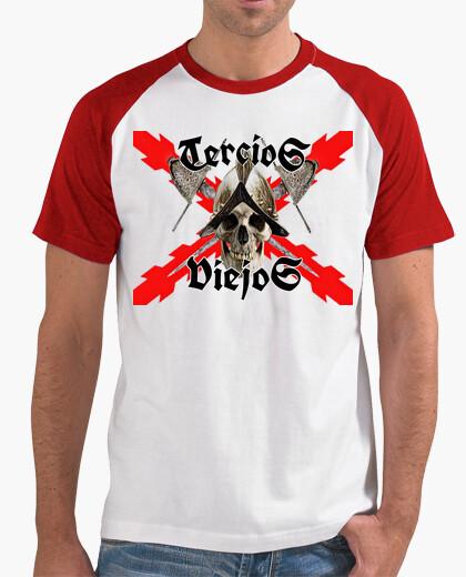 T-shirt Uomo, stile baseball, bianca e rossa