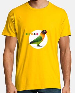 uomo t-shirt minimalista agapornis