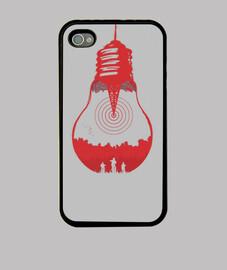 Upside Down, Stranger Things, Funda iPhone 4, negra
