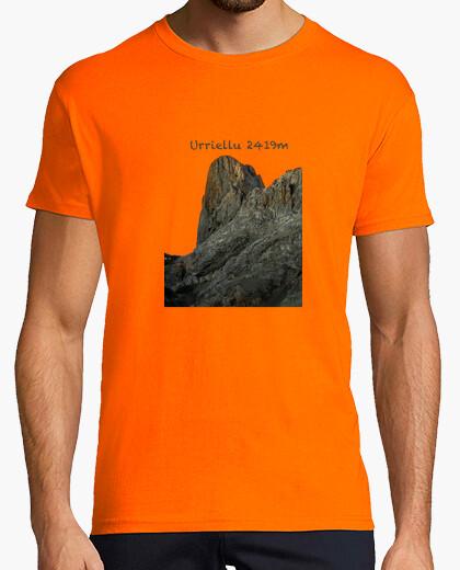 Camiseta Urriellu Hombre, manga corta, naranja, calidad extra