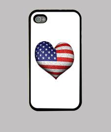 Usa Grunge Heart Shaped Flag 3d