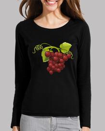 Uvas rojas sudadera chica