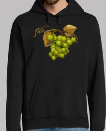 Uvas verdes sudadera chico capucha