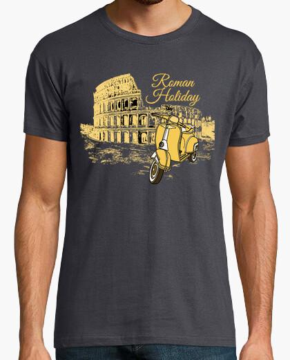 T-shirt vacanze romane- vespa