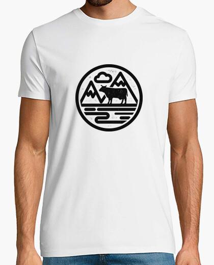 Tee-shirt Vache en liberté - montagne